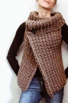Katia Ribeiro Crochê Moda e Decoração Handmade : Colete em Crochê Passo a Passo Fácil