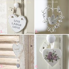 4 Hanging Hearts http://www.livelaughlove.co.uk/Hanging-Hearts/