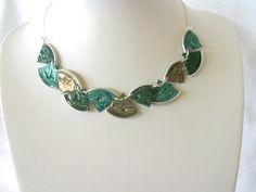 Splitter-Halskette grün von Fanori Bijou auf DaWanda.com