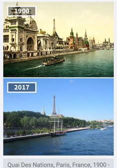 Quai Des Nations, Paris, France, 1900 - 2017 Before & After Pics Showing How The World Has Changed Over Time By Re. Then And Now Pictures, Before And After Pictures, Paris France, Saint Mathieu, Places To Travel, Places To Visit, Ville France, Old Paris, Belle Villa