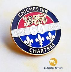 What a beauty! anniversary lapel pin with highly detailed gold plating with etched rampant lion & polished repeat fleur's hard enamel, Name Badges, Pin Badges, Make Your Own Badge, Custom Badges, 60th Anniversary, Gold Plating, Lapel Pins, Repeat, Lion