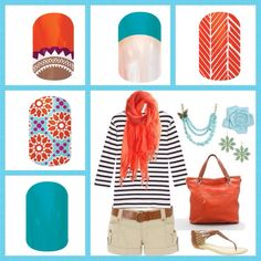 Spring and summer fun! Jamberry nail wraps  Check them out or place an order:  renehearst.jamberrynails.net
