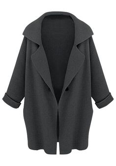 Check Out Oversized Blazer - Dark Grey - Very Audrey