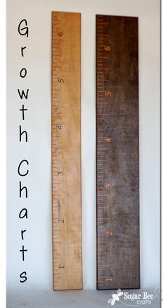how to make fun growth chart giant rulers - these are such a fun way to track kiddos growing, and you can move them when you move houses