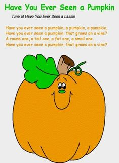 Have You Ever Seen a Pumpkin song, change adjectives to shapes Kindergarten Songs, Preschool Music, Fall Preschool, Preschool Activities, Halloween Songs Preschool, Halloween Songs For Toddlers, Halloween Rhymes, Preschool Calendar, Preschool Class