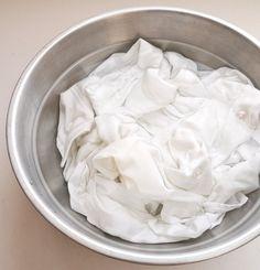 5C water & 2C white-vinegar soak whites over night to brighten & remove soap buildup in clothing.
