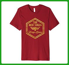 Mens The Best Dads Keep Bees - Beekeeper Father's Day T-Shirt 2XL Cranberry - Holiday and seasonal shirts (*Amazon Partner-Link)