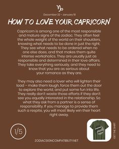 How to love your Capricorn