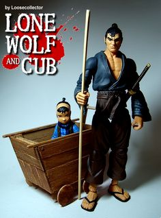 Loosecollector Custom Action Figures Official Website: Lonewolf and Cub playset