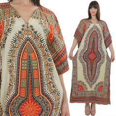 Boho Maxi Dress Hippie Dress Ethnic Dress Festival Dress Bohemian Dress Kaftan Dress Caftan Dress Retro Dress Vintage Party Dress