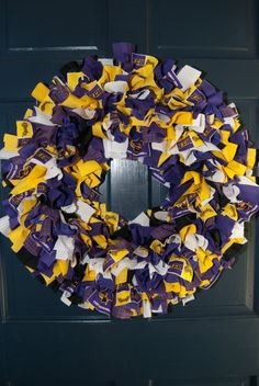 Great idea -- can even be made from all those purple & gold t-shirts collected over the years!