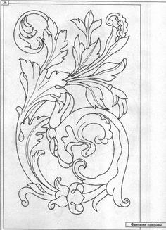 View album on Yandex. Leather Tooling Patterns, Leather Pattern, Embroidery Patterns, Cross Stitch Patterns, Print Patterns, Fabric Paint Designs, Free Hand Drawing, Wood Carving Patterns, Techniques Couture