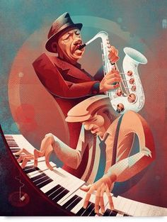 Some free jazz for the weekend. Ornette Coleman and his beautiful white sax. For more jazz related art visit jazzanddraw. African American Art, African Art, Black Art, Ornette Coleman, Jazz Poster, Jazz Art, Art Deco, Jazz Club, Jazz Musicians