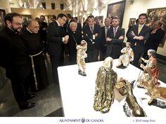 Con el Arzobispo de Valencia, el Cardenal Antonio Cañizares, inaugurando el Museu de Santa Clara. Gandia ya es más rica culturalmente