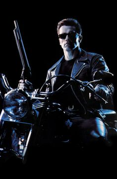 Arnold Schwarzenegger as Terminator.