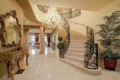 i want so badly to have a huge, open staircase...