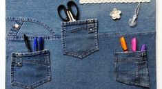 Are you looking for ideas to recycle old jeans? We have selected some of the best ideas we have found so you can be inspired and make your own crafts by recycling old jeans. Artisanats Denim, Denim Rug, Denim Purse, Diy Jeans, Jean Crafts, Denim Crafts, Upcycled Crafts, Jean Diy, Techniques Couture