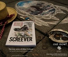 Promo ad for Lady Screever; written by Philip Battle