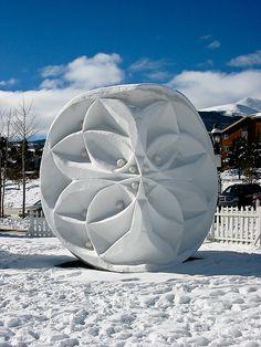 Kaleidoscope - Snow Sculpture. Photo: Beth Hoffman
