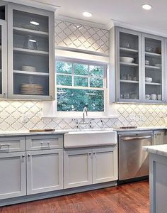 3 Thrilling ideas: Kitchen Remodel Fixer Upper Dining Rooms kitchen remodel must haves sinks.Farmhouse Kitchen Remodel Diy kitchen remodel before and after rustic. Farmhouse Kitchen Cabinets, Modern Farmhouse Kitchens, Kitchen Cabinet Design, Kitchen Redo, Kitchen Ideas, Rustic Farmhouse, Kitchen White, Kitchen Countertops, Farmhouse Style