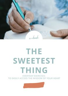 EBook The Sweetest Thing – everyday exercises to easily access the wisdom of your heart by Della Reside. In this book I'll teach you: how to practice self-love, journal, connect to your heart, do self-awareness activities, learn self-discovery through dreams, meditate, and overcome obstacles. You'll get quotes, inspiration, tips, and exercises. Click here to learn more about self-awareness, chakras and meditation. #selfawareness #chakras
