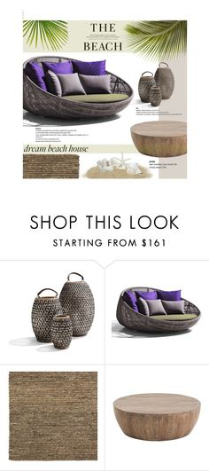 """Dream Beach House"" by vecastancic ❤ liked on Polyvore featuring interior, interiors, interior design, home, home decor, interior decorating, H&M, B&B Italia, Williams-Sonoma and dreambeachhouse"