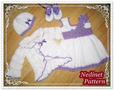 Crochet Baby Dress Pattern, Crochet Dress 0-12 m