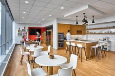 Circo barstools from Davis Furniture in the PadillaCRT offices - designed by Spector Group