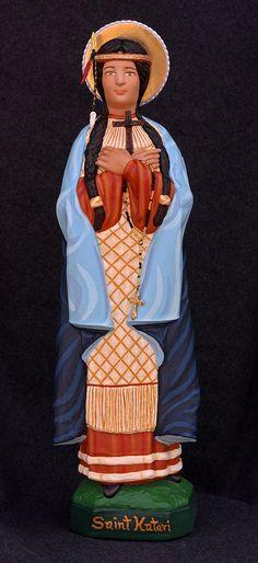 """St. Kateri Tekakwitha 18"""" Catholic Christain Plaster Saints Religious Statue"""