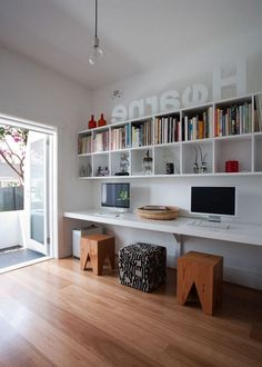 Beautiful Contemporary Office Design Ideas - When furnishing offices, office owners look for new and unique furnishing items. Contemporary office furniture is one such variety of furniture that h. Home Office Space, Home Office Design, Home Office Decor, Home Design, Home Decor, Office Ideas, Design Ideas, Ikea Office, Office Furniture Design