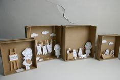 paper diorama | caracarmina-atelier: My First Dioramas!!!