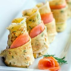 Dill Crepes With Smoked Salmon With Fresh Dill, Large Eggs, Sugar, Salt, Whole Milk, All-purpose Flour, Baking Powder, Vegetable Oil, Sour Cream, Mayonnaise, Ground Black Pepper, Smoked Salmon