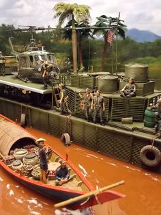 Building Painting, Model Building, Brown Water Navy, Train Miniature, Good Morning Vietnam, Trains, Military Action Figures, Model Maker, Military Modelling