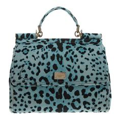 Blue & Black Animal Print Patterned Tote Bag by Dolce and Gabbana.  Ooh lovely <3