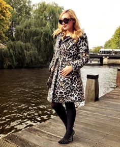 Great shot in Amsterdam near one of the famous canals, with Diva-Iraida, famous Dutch blogger, wearing the Pantera coat! www.tessakoops.com