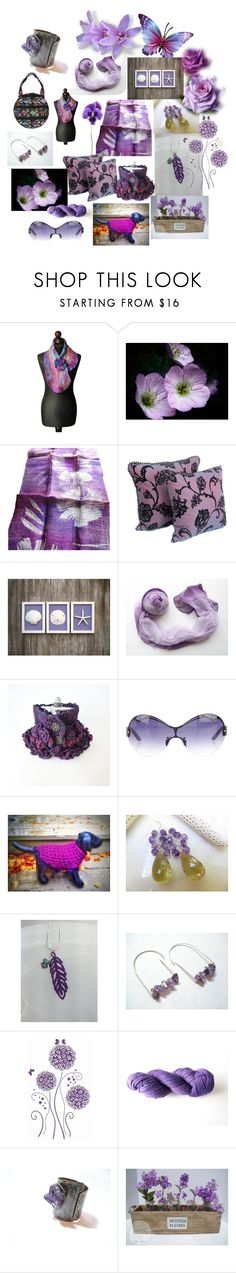 """Purple Blossom"" by anna-recycle ❤ liked on Polyvore featuring Thierry Mugler, modern, rustic and vintage"