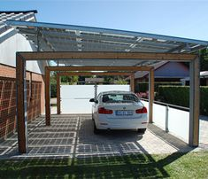 4 Design Roof Panels For Carport Photo by Rodale InstituteSolar console prices accept alone in contempo years, authoritative the technology added attainable Carport Modern, Double Carport, Garage Double, Carport Garage, Pergola Carport, Steel Pergola, Gazebo, Installation Solaire, Solar Installation