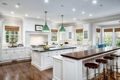 Greenwich residence, CT. Lazarus & Sargeant, Architects....different counter tops