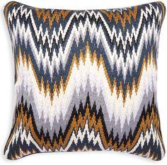 Camel Bargello Worth Pillow
