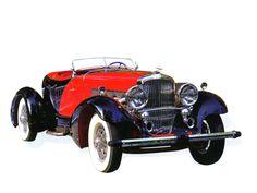 Cars 1931 Duesenberg Model J Figoni Boattail Speedster Red Black Low Fvr