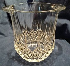 Glass Ice Bucket // Mint // Pressed Glass