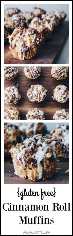 The gooey goodness you love about cinnamon rolls, but these muffins are gluten free and are made start to finish in less than 30 minutes!
