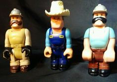 Vintage Fisher-Price HUSKY HELPERS figures 1977 Farmer Construction Workers FP  #FisherPrice