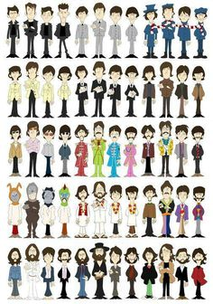 evolution of the beatles. I like that there hair is waving in the wind in the last pic of them because of their last performance together on the roof Foto Beatles, Beatles Love, Les Beatles, Beatles Art, Beatles Photos, Beatles Guitar, Ringo Starr, George Harrison, John Lennon