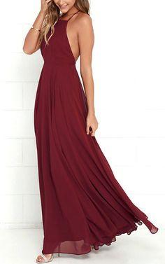 Mythical Kind Of Love Wine Red Maxi Dress via @bestchicfashion