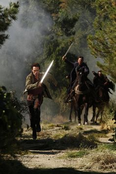 Billy Burke makes a run for it in #Revolution!  Just watched online. I think if you like The Hunger Games you'll like this.