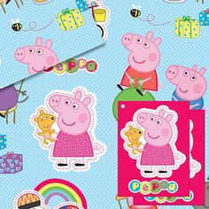 Peppa Pig Wrapping Paper - Peppa Pig Games & Party Supplies - Party Ark