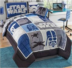Cool Blue Star Wars Bedding Twin 6-Pc Set