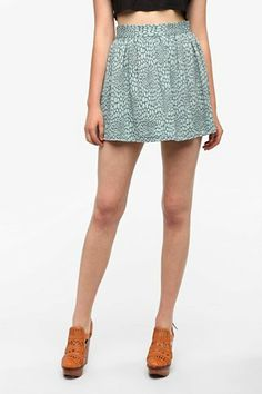 Urban Renewal Full Leopard Skirt - Urban Outfitters