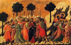 Betrayal of Jesus, painting by Duccio, c. 1311